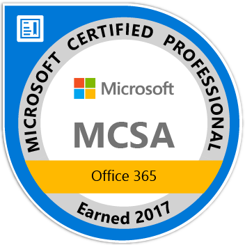 MCSA: Office 365, 2017