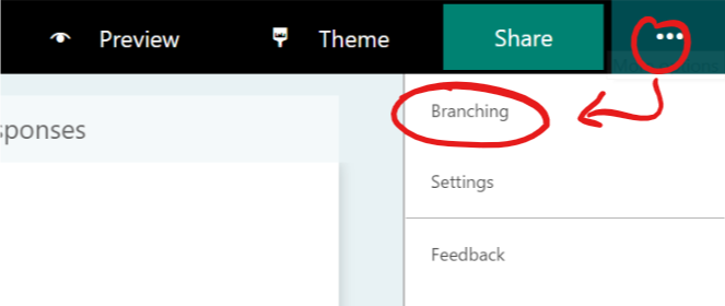 Microsoft Forms branching