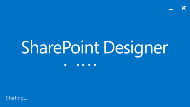 SharePoint Designer Splash Screen