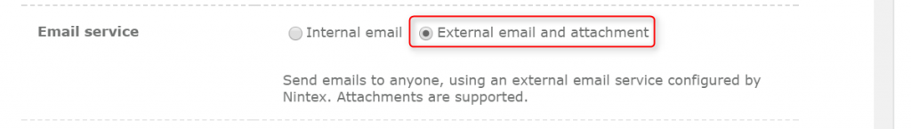 Nintex Workflow - External email and attachment