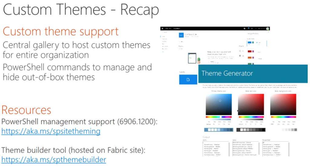 SharePoint Online custom themes