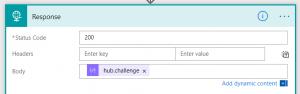 Return hub.challenge parameter
