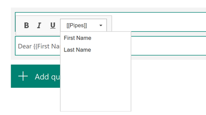 Custom parameters in Microsoft Forms Pro