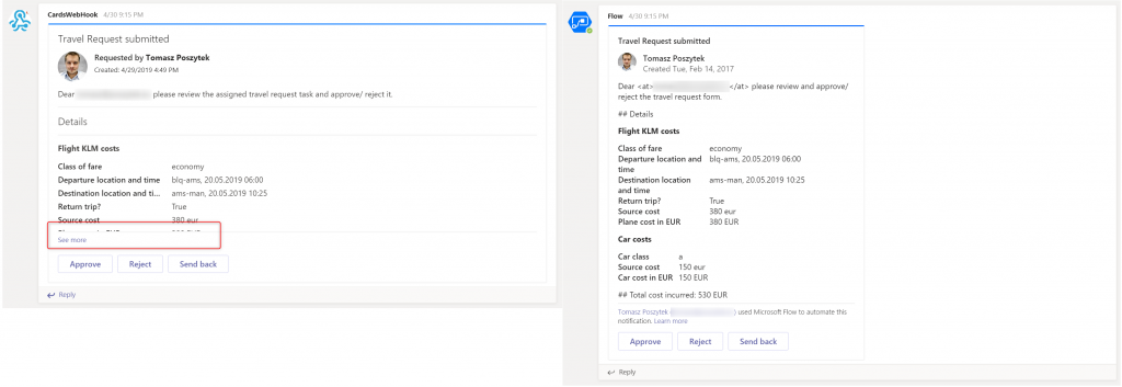 Message Card vs. Adaptive Card in Microsoft Teams