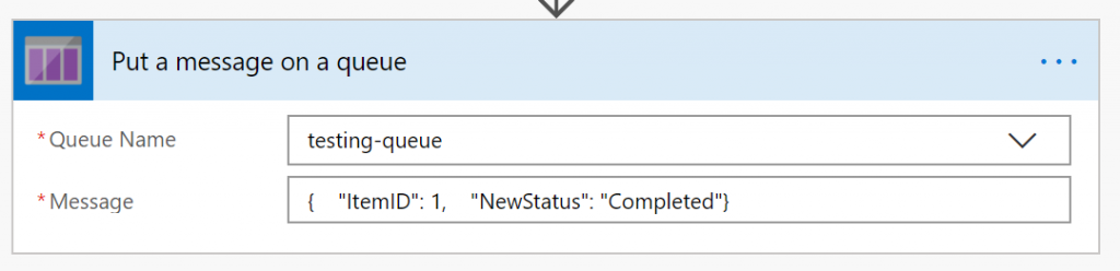 Putting message on Azure Queue