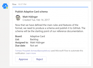 Sending Adaptive Card to Microsoft Teams