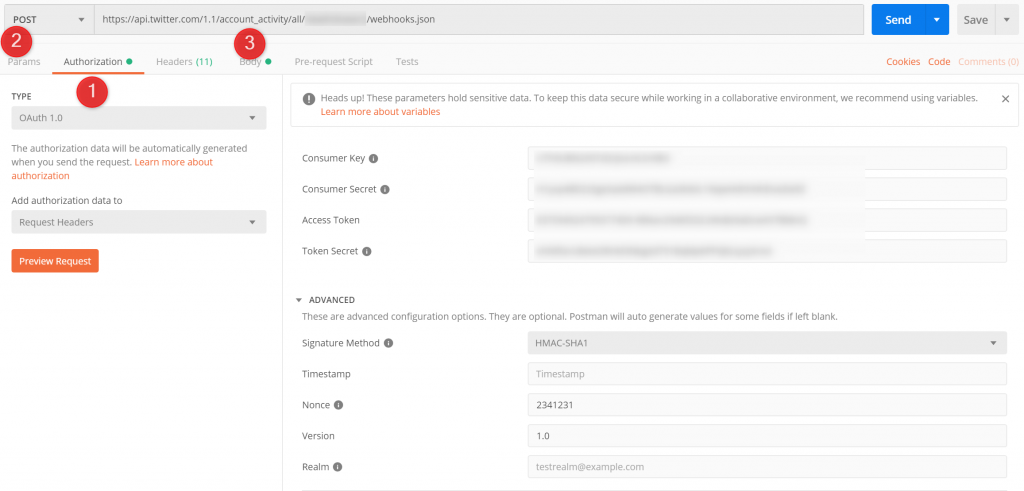 Register Twitter Account Activity webhook with Azure Function app