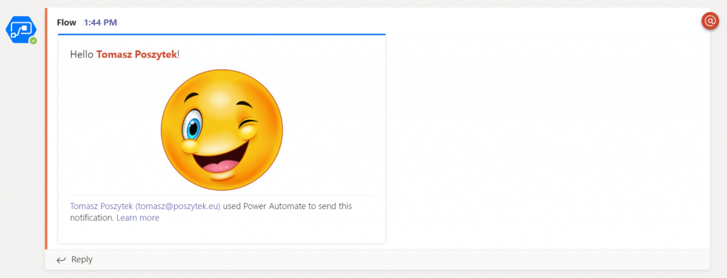 MENTIONING IN MICROSOFT TEAMS VIA POWER AUTOMATE